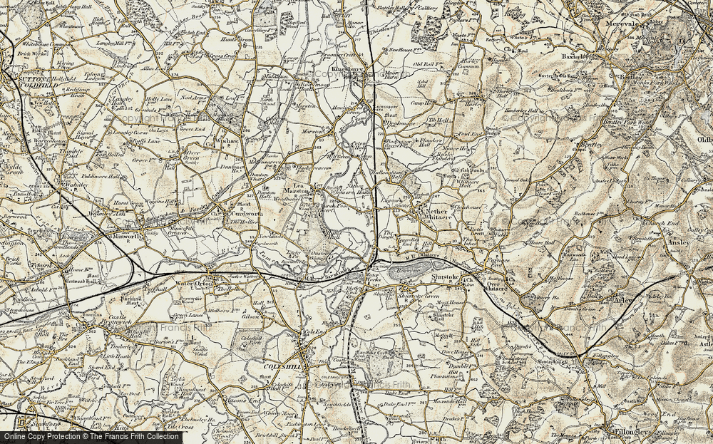 Old Map of Whitacre Heath, 1901-1902 in 1901-1902