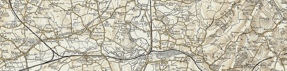 Old map of Whitacre Heath in 1901-1902