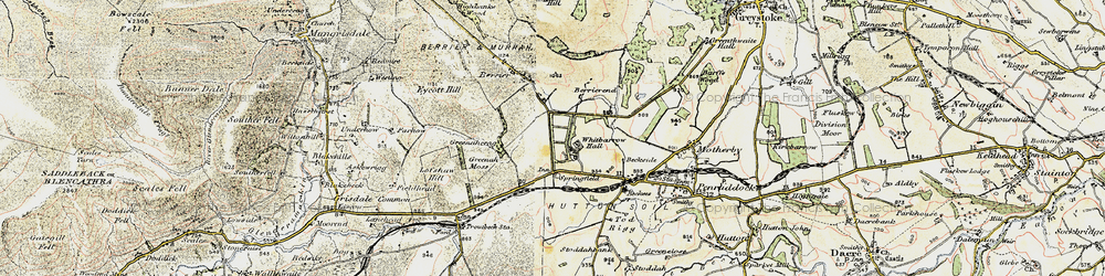 Old map of Whitbarrow Village in 1901-1904