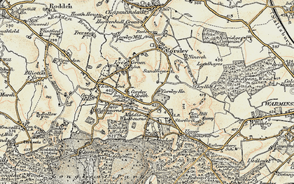 Old map of Whitbourne Moor in 1897-1899