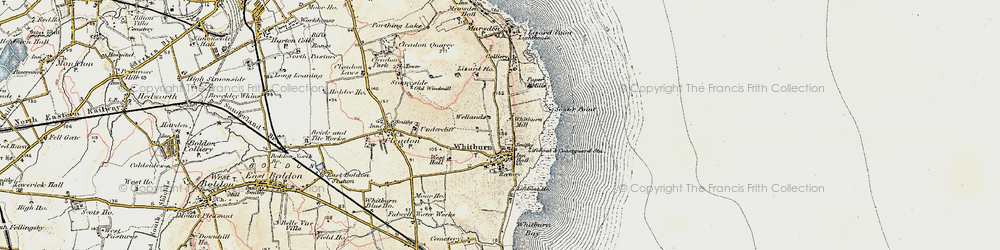 Old map of Whitburn in 1901-1904