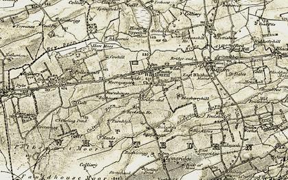 Old map of Whitburn in 1904-1905