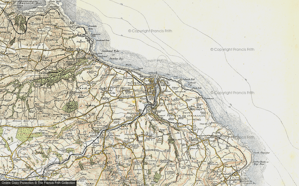 Old Map of Whitby, 1903-1904 in 1903-1904