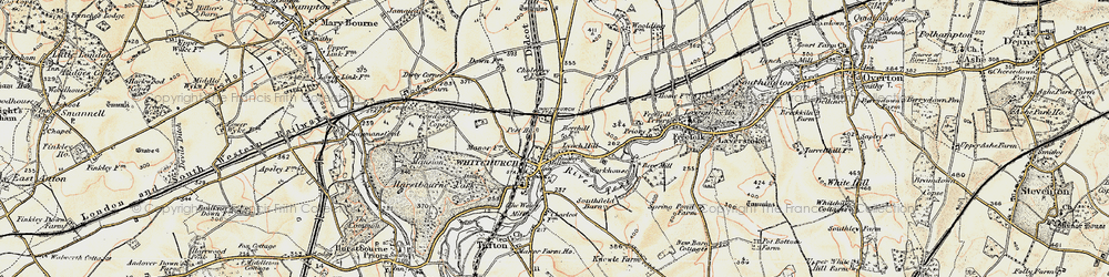 Old map of Whitchurch in 1897-1900