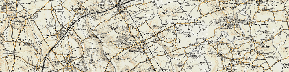 Old map of Whitchurch in 1897-1909