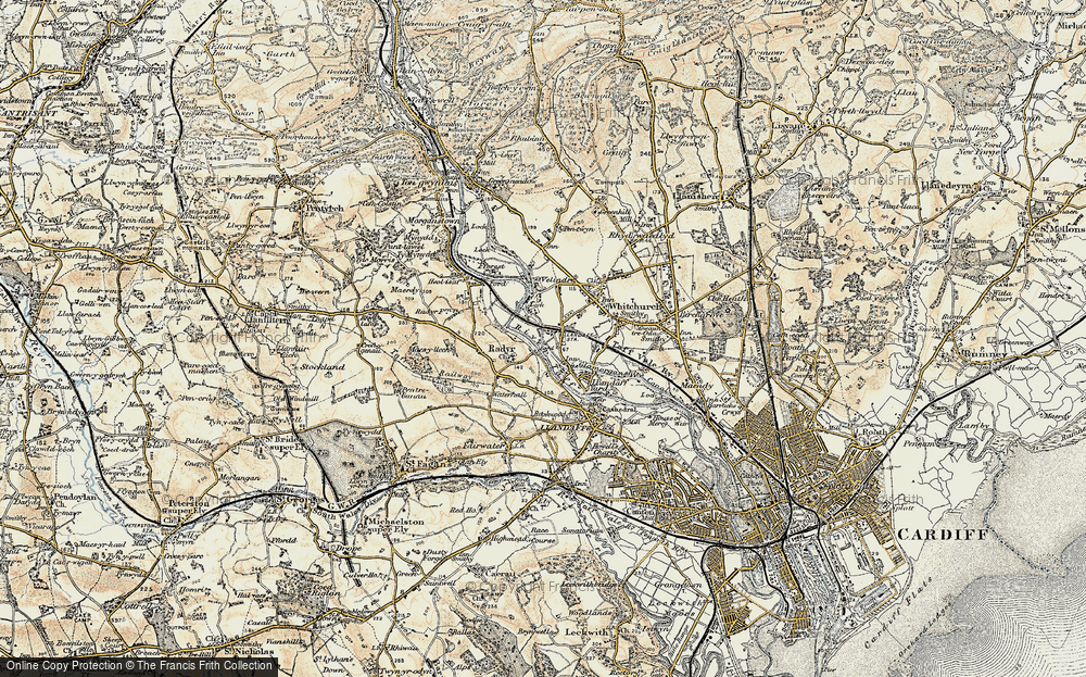 Old Map of Whitchurch, 1899-1900 in 1899-1900