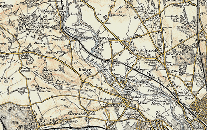 Old map of Whitchurch in 1899-1900
