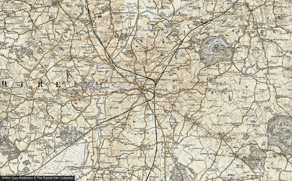 Old Map of Whitchurch, 1902 in 1902