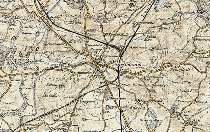 Old map of Whitchurch in 1902