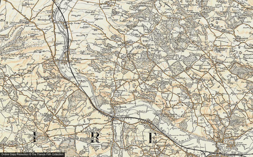 Old Map of Whitchurch Hill, 1897-1900 in 1897-1900