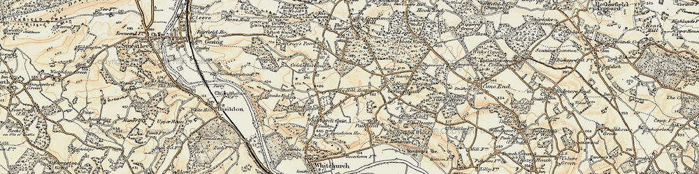 Old map of Whitchurch Hill in 1897-1900