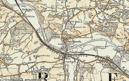 Old map of Whitchurch-on-Thames in 1897-1900