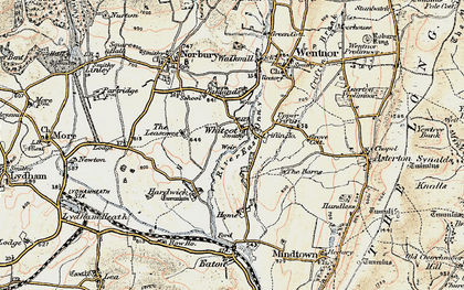 Old map of Whitcot in 1902-1903