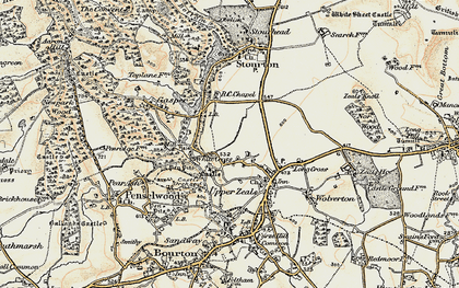 Old map of White Cross in 1897-1899