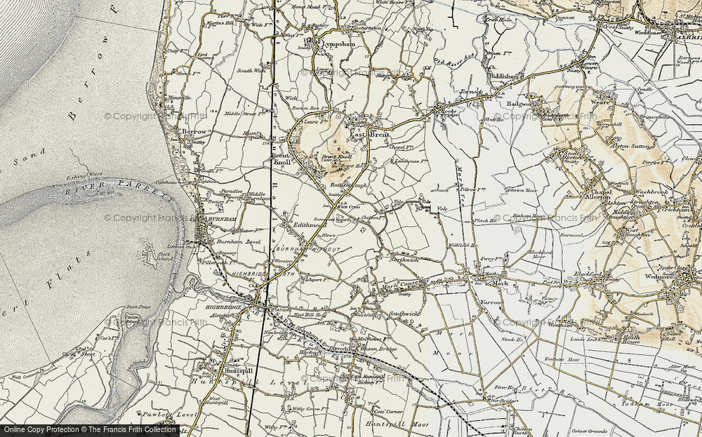 Old Map of White Cross, 1899-1900 in 1899-1900