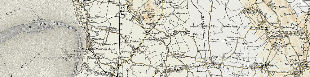 Old map of White Cross in 1899-1900