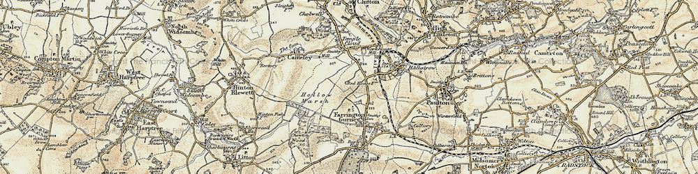 Old map of White Cross in 1899