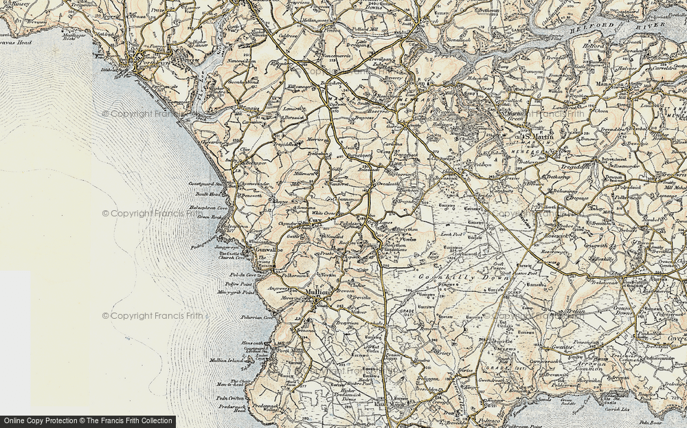 Old Map of White Cross, 1900 in 1900