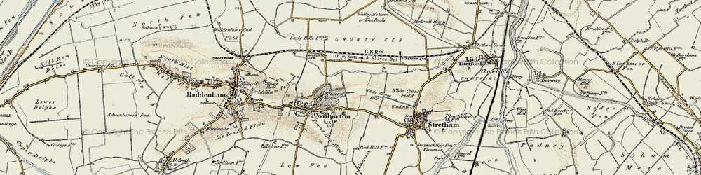 Old map of White Cross Hill in 1901