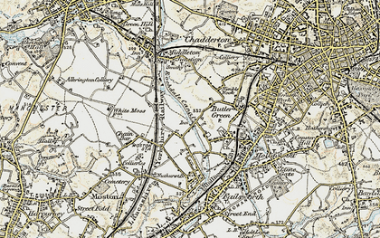 Old map of White Gate in 1903