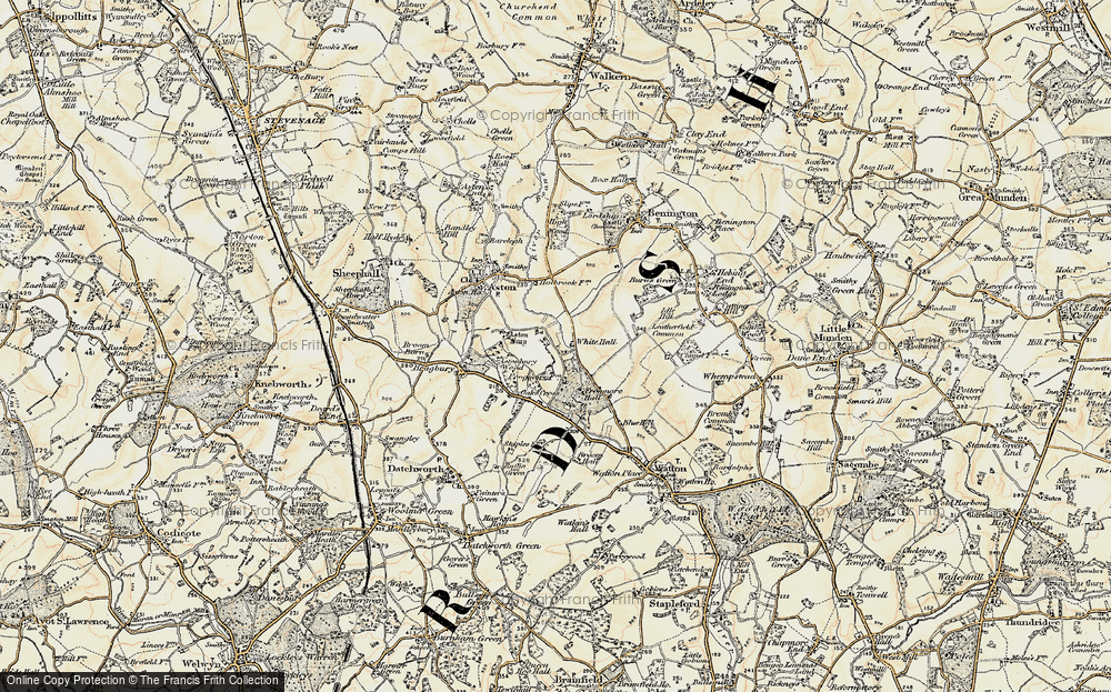 Old Map of White Hall, 1898-1899 in 1898-1899