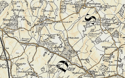 Old map of White Hall in 1898-1899