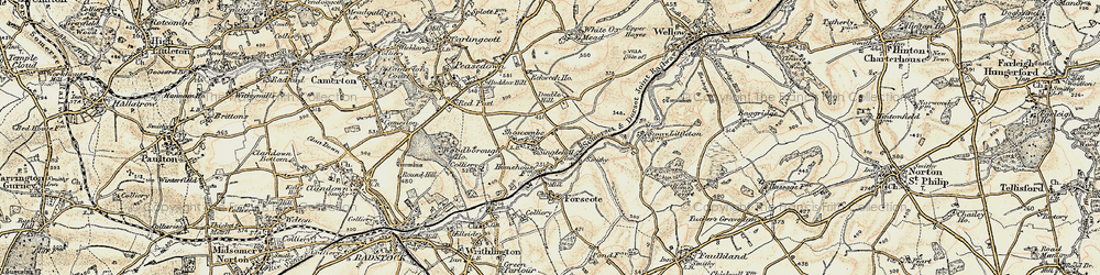 Old map of White Hill in 1898-1899