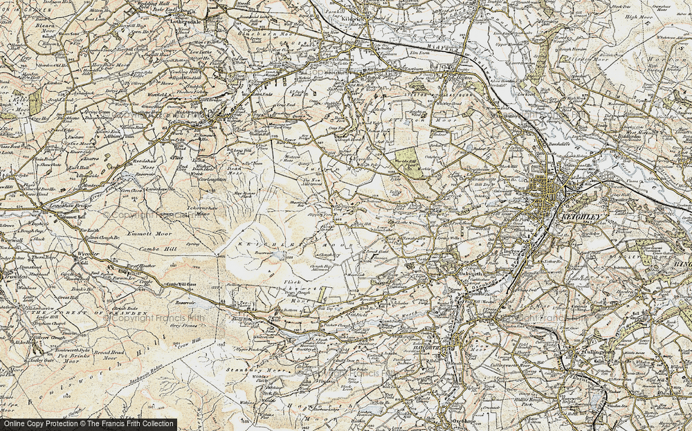 Old Map of White Hill, 1903-1904 in 1903-1904