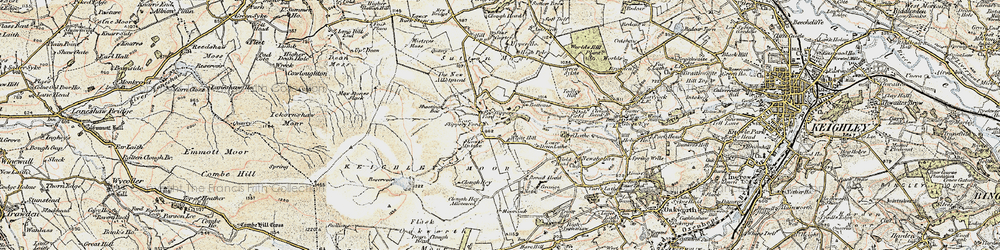 Old map of White Hill in 1903-1904