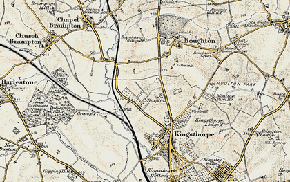 Old map of White Hills in 1898-1901