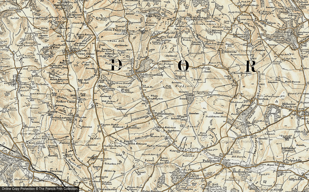 Old Map of White Lackington, 1897-1909 in 1897-1909