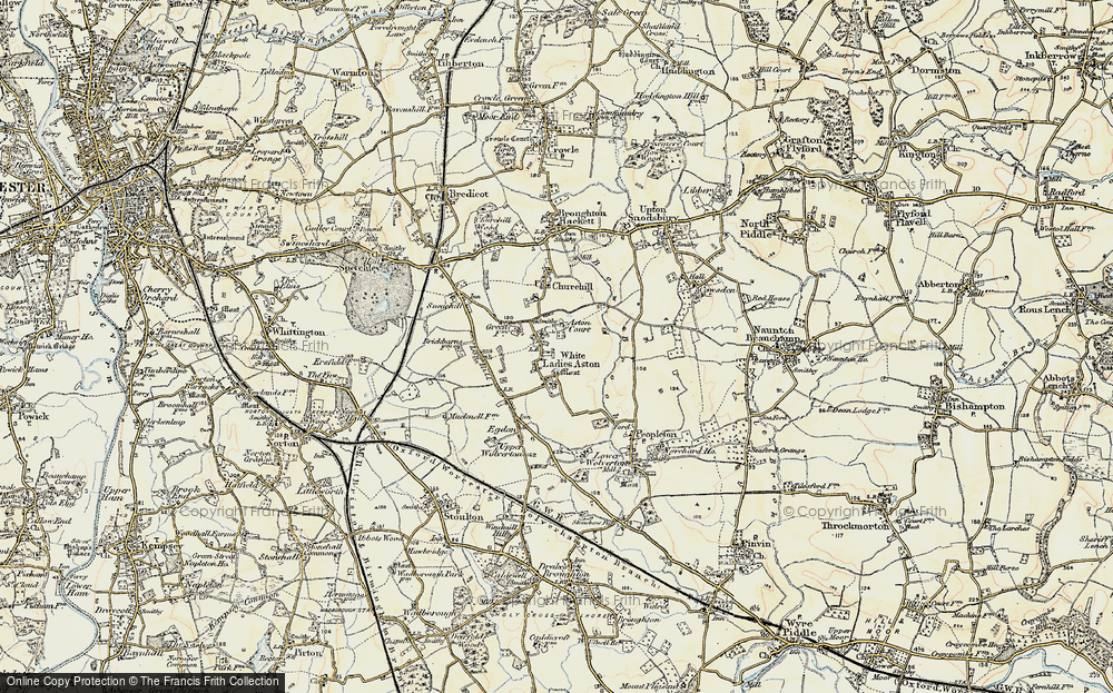 Old Map of White Ladies Aston, 1899-1901 in 1899-1901