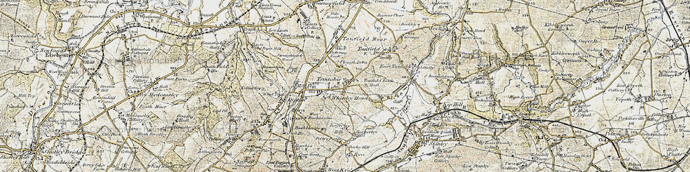 Old map of White-le-Head in 1901-1904