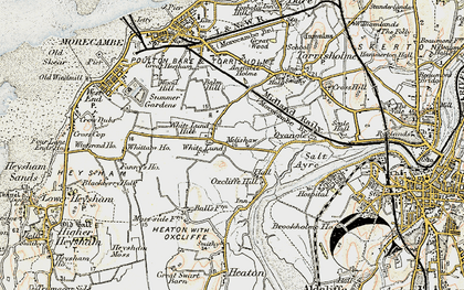 Old map of White Lund in 1903-1904