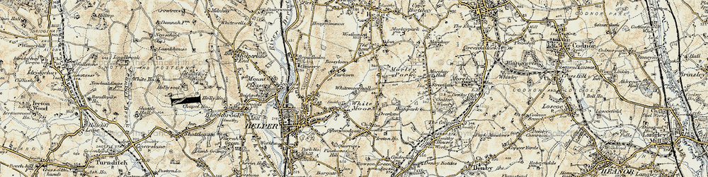 Old map of White Moor in 1902
