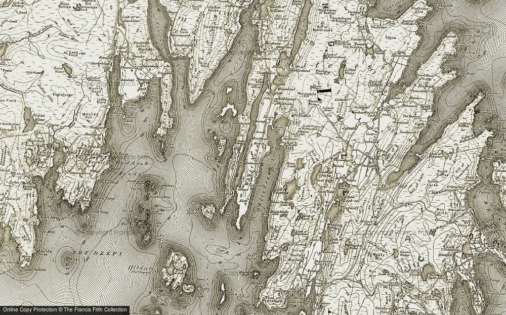 Old Map of White Ness, 1911-1912 in 1911-1912