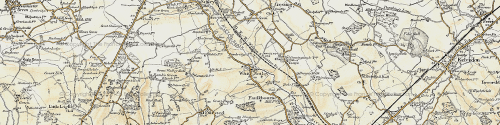 Old map of White Notley in 1898-1899