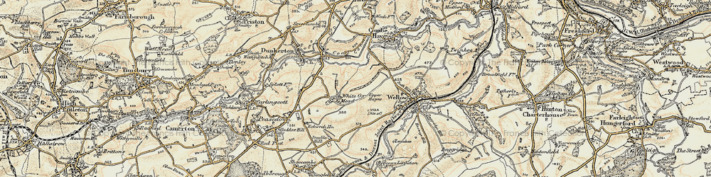 Old map of White Ox Mead in 1898-1899