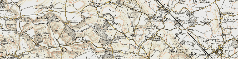 Old map of White Pit in 1902-1903