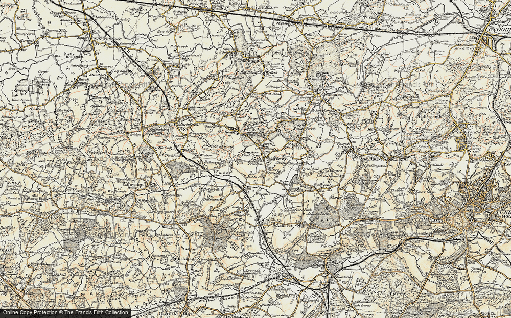 Old Map of White Post, 1898 in 1898