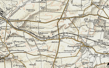 Old map of White Post in 1902-1903