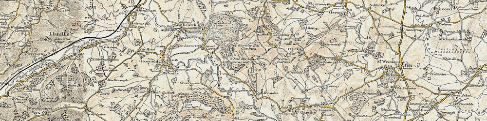 Old map of White Rocks in 1899-1900