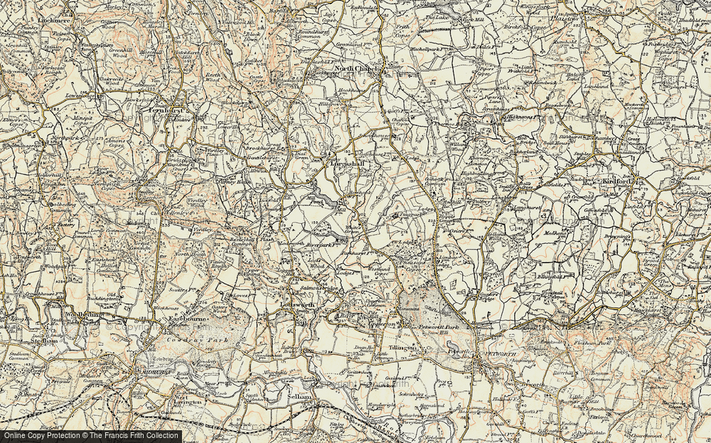Old Map of White's Green, 1897-1900 in 1897-1900