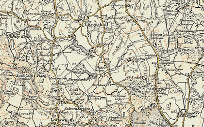 Old map of White's Green in 1897-1900