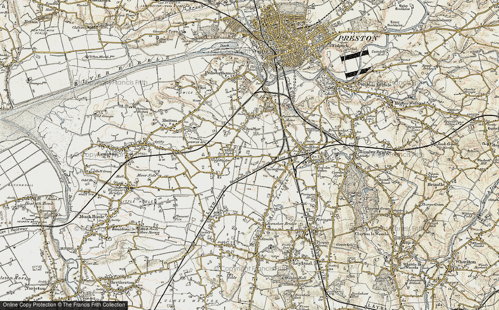 Old Map of White Stake, 1903 in 1903