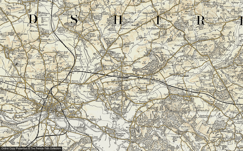 Old Map of White Stone, 1899-1901 in 1899-1901