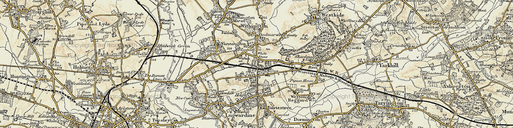 Old map of White Stone in 1899-1901