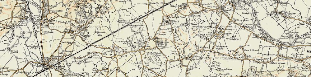 Old map of White Waltham in 1897-1909