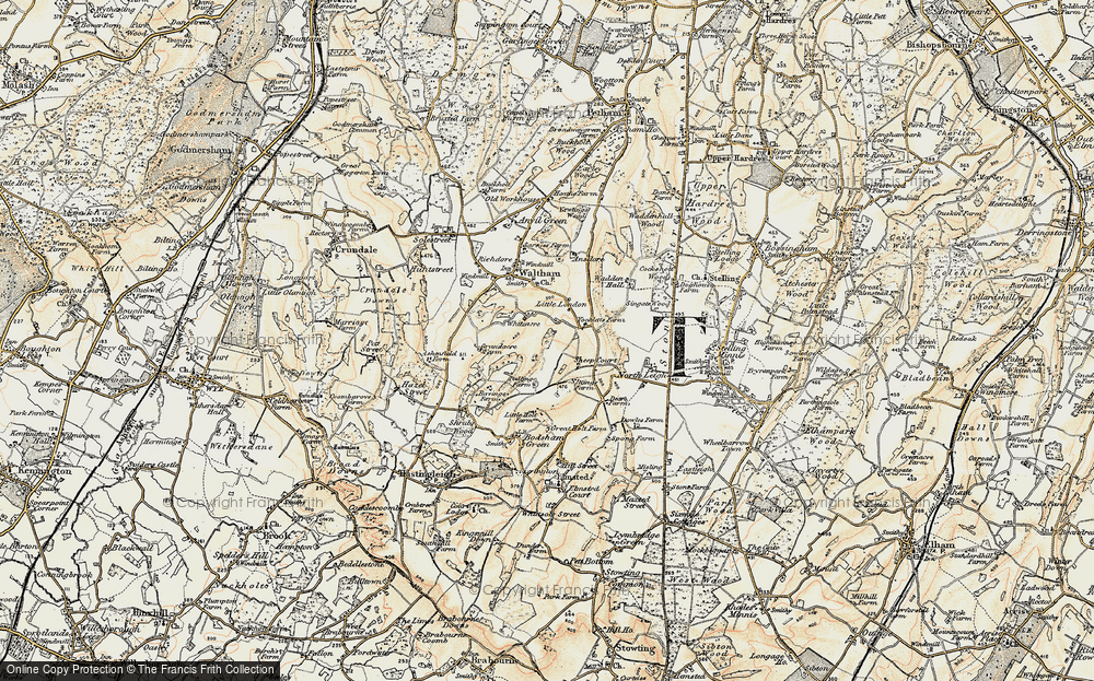Old Map of Whiteacre, 1898-1899 in 1898-1899