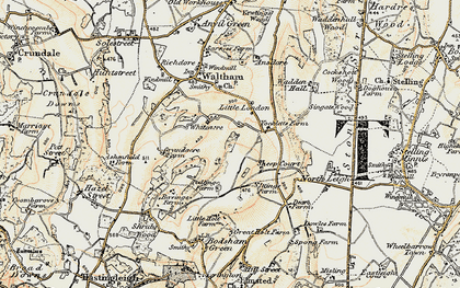 Old map of Whiteacre in 1898-1899